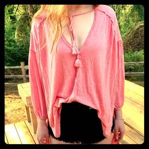 NEW Free People Just a Henley 3/4 Sleeve, size XS